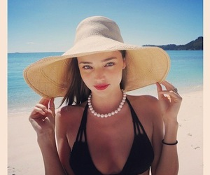 miranda kerr, beach, and model image