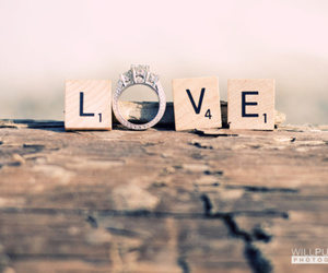love, ring, and letters image