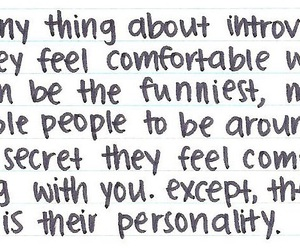 introvert, personality, and funny image