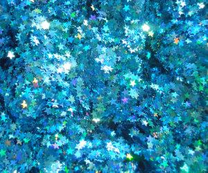 etsy, blue glitter, and nail polish glitter image