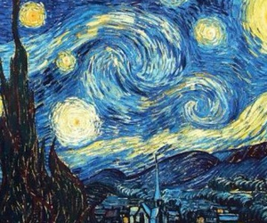 starry night, van gogh, and beautiful image