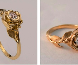 engagement, ring, and rose image