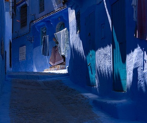 blue, morocco, and chefchaouen image