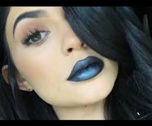 kylie, black, and blue image