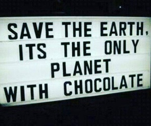 chocolate and planet image