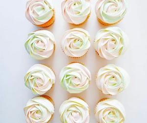 rose, cupcake, and pastel image