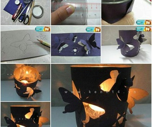 diy, butterfly, and candle image