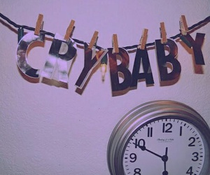 clock, crybaby, and baby image