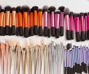 Brushes, cosmetics, and real techniques image