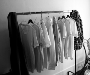 black and white, clothing, and flannel image