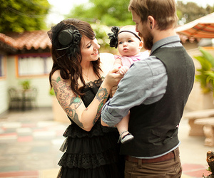 family, tattoo, and baby image