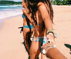 beach, best friends, and goals image