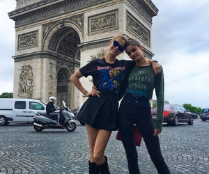model, taylor hill, and josephine skriver image