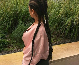braid, fashion, and pink image