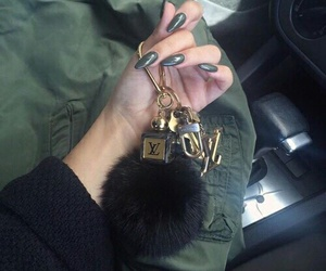 green, nails, and luxury image