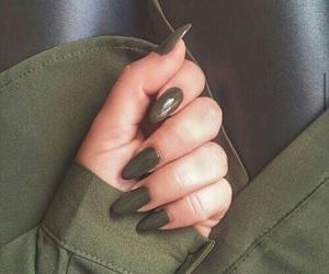 nails, green, and khaki image