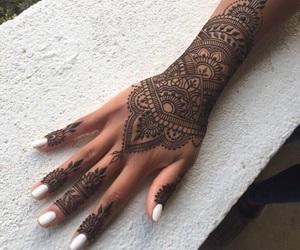 henna, mehndi, and nails image