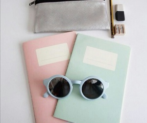 notebook, hipster, and pastel image
