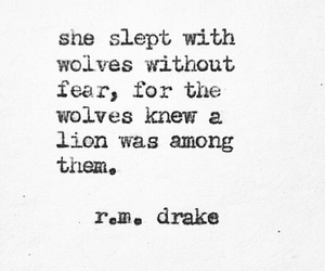 quotes, wolf, and lion image