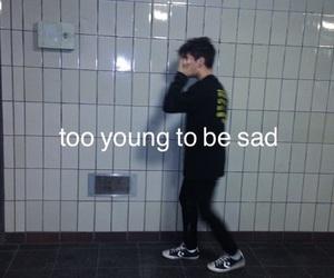 sad, grunge, and young image