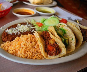 food, tacos, and yum image