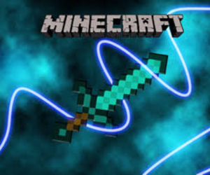 minecraft and diamond sword image