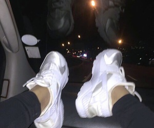 night, nike, and shoes image