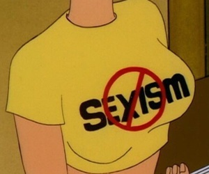 sexism, yellow, and aesthetic image