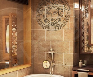 Versace, luxury, and bathroom image