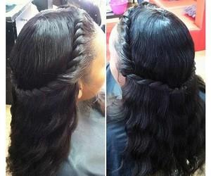 beautiful hair, hair, and hairstyles image