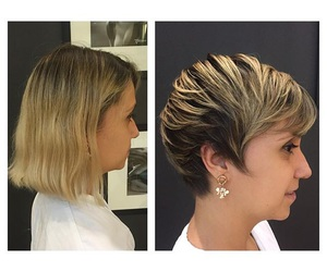 blonde, pixie hair, and pretty image