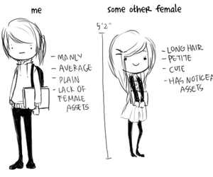 girl, me, and funny image