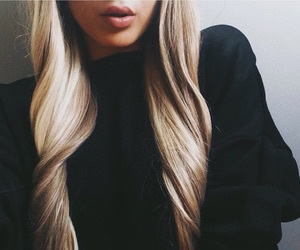 hair, blonde, and lips image