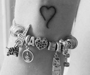tattoo, heart, and hand image