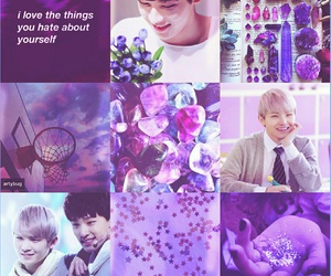 moodboard, purple, and Seventeen image