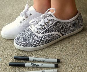 shoes, art, and diy image