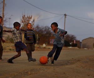 africa, football, and kids image