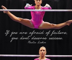 gymnastics, quote, and nastia image