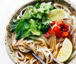 food, noodles, and pho image