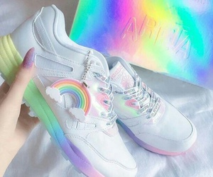 clothes, rainbow, and sneakers image