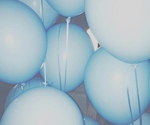 balloons, blue, and edit image
