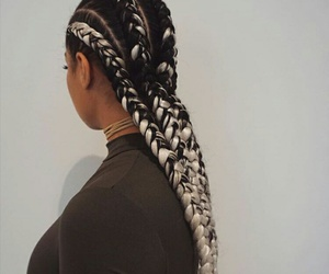 braids, hair, and beauty image