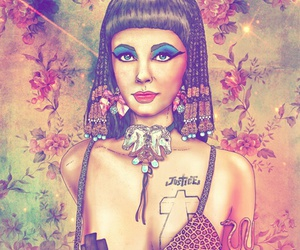 cleopatra, hipster, and art image