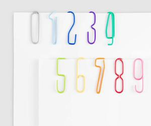colours, paper clip, and paper clips image