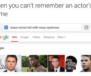 funny, actor, and maze runner image