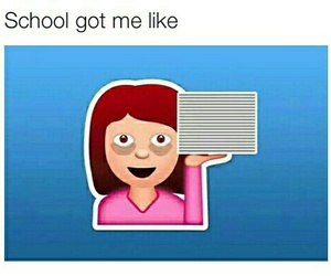 school, funny, and tired image
