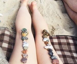 beach, sun, and fairskin image