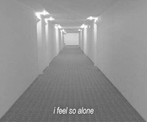 alone, grunge, and sad image