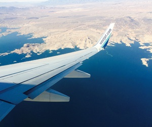 airplane, land, and traveling image