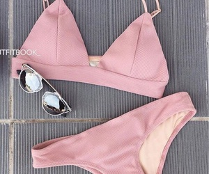 pink, fashion, and swimsuit image